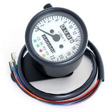 Mini Tacho Km/h einbau Tachometer  schwarz weiß 2:1 für Harley Davidson Custom