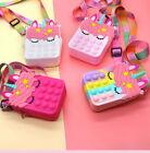 Push Pop Bubble Unicorn Coin Bag Sensory Fidget Toy it Stress Relief  Autism
