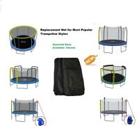 Trampoline Replacement Net Safety Round Enclosure Nets 12' / 14'/ 15' PICK STYLE