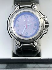 OAKLEY CRANKCASE Watch Brushed Stainless Steel / Grey Dial Timepiece