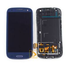Blue For Samsung Galaxy S3 i9300 Glass LCD Touch Screen Digitizer Assembly Frame