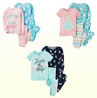 NWT Carter's Baby Girls' 2-Pairs Pajamas 100% Cotton Sleepwear