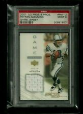 Peyton Manning 2001 UD Pros & Prospects GAME JERSEY Relic PSA 9 MINT Colts HOFer