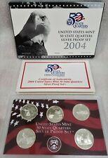 2004 Silver Proof Quarter Set in package  w/COA