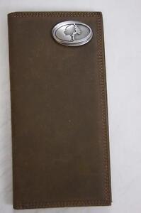 ZEP-PRO MOSSY OAK CAMO LOGO Crazy Horse Leather LONG Roper WALLET Tin GIFT Box
