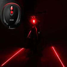 Cyclisme Vélo de vélos 2 Projecteur laser rouge Lampes Beam et 3 LED arrière
