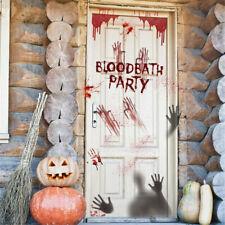 Halloween Wall Stickers Horror Door Stickers Decorative Blood Handprint Stickers