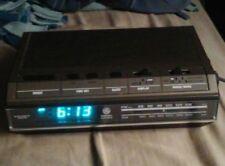 GE General Electric Digital Alarm Clock Radio 7-4642B Blue Display Vintage Works