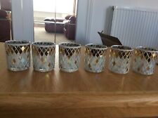 YANKEE CANDLE 6 MOSAIC VOTIVE HOLDERS + 2 Votives BNIB CELEBRATE