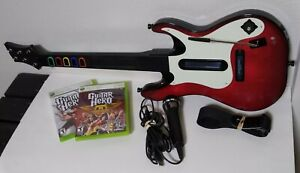 Xbox 360 Guitar Hero 5 Red Octane Guitar 2 Games & Mic Bundle