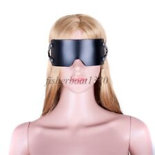 Faux Leather Eye Mask Blindfold Party Restraints Open Nose Roleplay Couple game