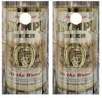 Vintage Fire House Brew Sign Cornhole Board Wraps w//FREE APP SQUEEGEE #915
