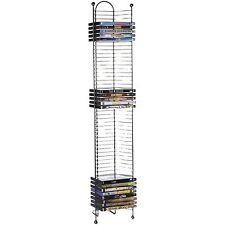 52 DVD Media Storage Tower Stand Organizer Rack Shelf Holder Gunmetal, New