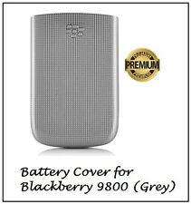 Blackberry TORCH 9800 Phone Battery back case cover Grey silver