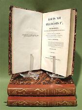 ROEDERER :  Louis XII et François I° - 1825-33 - 3 volumes reliés - Moyen-Âge