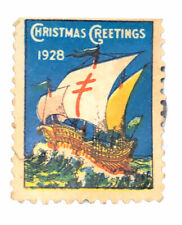 US 1928 Christmas Stamp Supporting ALA (Sail Insignia) Fighting Tuberculosis