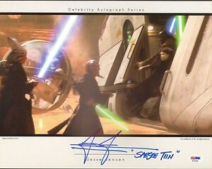 "JESSE JENSEN Signed ""Saesee Tiin"" STAR WARS OFFICIAL PIX 11x14 Photo PSA/DNA"