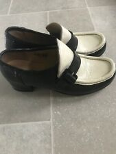 Patrick Cox ICONIC womens Loafer Patent Monochrome Block Heel Instagram Trending