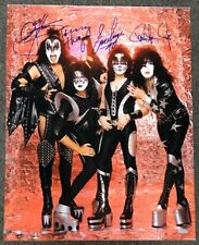 KISS Signed 16x20 Photo Simmons Stanley Thayer & Singer Autograph Auto Steiner