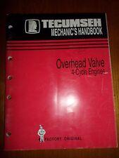 Tecumseh 695244A,Mechanics Handbook MANUAL - 4-CYCLE OHV ENGINES, Original OEM