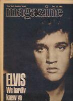 """1981 """"NEW YORK SUNDAY NEWS"""" Magazine 12/13. ELVIS PRESLEY, WE HARDLY KNEW YA"""