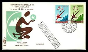 GP GOLDPATH: SAN MARINO COVER 1958 FIRST DAY COVER _CV681_P21