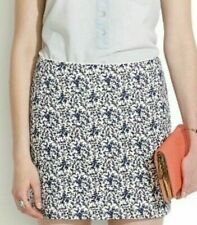 MADEWELL • FLORAL PRINT BLUE BUD TOILE MINI SKIRT WHITE DELFT HIGH WAIST SIZE 4