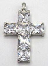 Echtschmuck-Halsketten & -Anhänger aus Sterlingsilber mit Prinzess-Kreuz-Motiv
