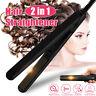 2 IN 1 Professional Steam Flat Hair Straightener & Hair Curler Curling Iron US