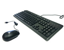 HP USB Keyboard+Mouse Original in Set PC Mouse + Keyboard = Layout: French