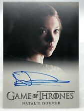 Game of Thrones Season 3 Autograph Card - NATALIE DORMER as MARGAERY TYRELL