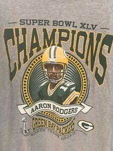 NWT Reebok Green Bay Packers Aaron Rodgers Super Bowl XLV Shirt XL