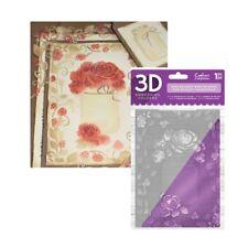 Rose Bouquet Embossing Folder Crafter's Companion Folders 3D 5x7 Mason Jar