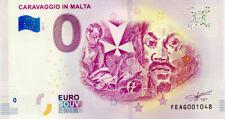 MALTE Caravaggio in Malta, 2019, Billet 0 € Souvenir