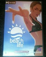 Beach Life PC CD-Rom Video Game Eidos Deep Red 2002 Windows Very Rare Simulation