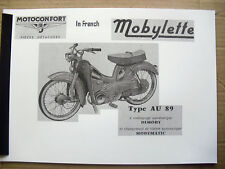 Mobylette/Moped/ AV89 / In French / Parts Book With Exploded Diagrams