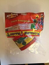 Power Rangers Saban's Samurai Crepe Streamer Paper Birthday Party Supply Favors