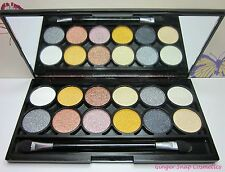 Technic METALLIC Eye Shadow Palette Set Black Gold Bronze White Nude Smokey GIFT