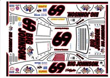#69 E. Normus Big Johnson Black #s 1/32nd  ScaleSlot car  Waterslide Decals