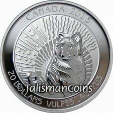 Canada 2013 Untamed Canada #1 Arctic Fox $20 Pure Silver Proof