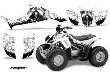 ATV Graphics Kit Quad Decal Sticker Wrap For Honda TRX90 2006-2018 REAPER WHITE