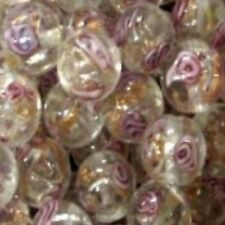 10 Pcs Clear Lampwork Round Glass Beads - 12mm - A3931