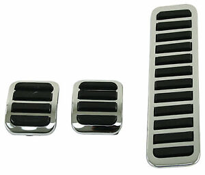 EMPI 4551 - CUSTOM CHROME PEDAL PADS VW RAIL DUNE BUGGY BUG GHIA BUS BAJA PARTS