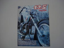 advertising Pubblicità 1973 MOTO FANTIC CHOPPER 125