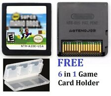 New Super Mario Bros. (Nintendo DS, 2006) 6 in 1 Game Card Holder, FREE