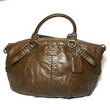 Coach Madison Purse Brown Leather Large Sophia Shoulder Bag 15960