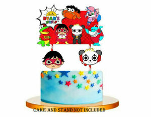 RYANS WORLD Themed Cupcake Birthday Cake Topper Party Supplies Decoration UK