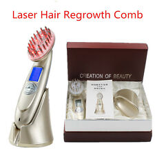 Microcurrent BIO Laser Comb Hair Growth Regrowth Brush Hair Loss Therapy Machine