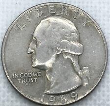 1969D 25C Washington Quarter Dollar Coin