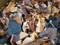 🐄 10LB Box Brazilian Soft Scrap Leather Remnants Mixed Colors & Sizes 🔥